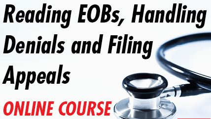 Medical billing pamphlets - Reading EOB's, Handling Denials And Filing Appeals course image