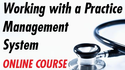 Medical billing brochures - Working With A Practice Management System course image